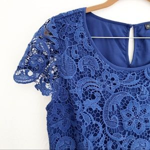 Brixon Ivy Crochet Lace Overlay Top